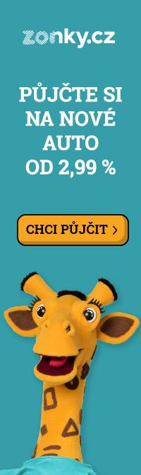 Banner Zonky - Půjčte si na nové auto od 2,99%